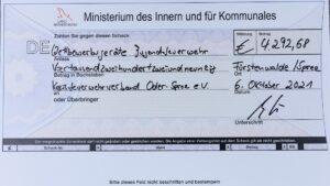 Innenminister Stübgen übergibt Fördermittel